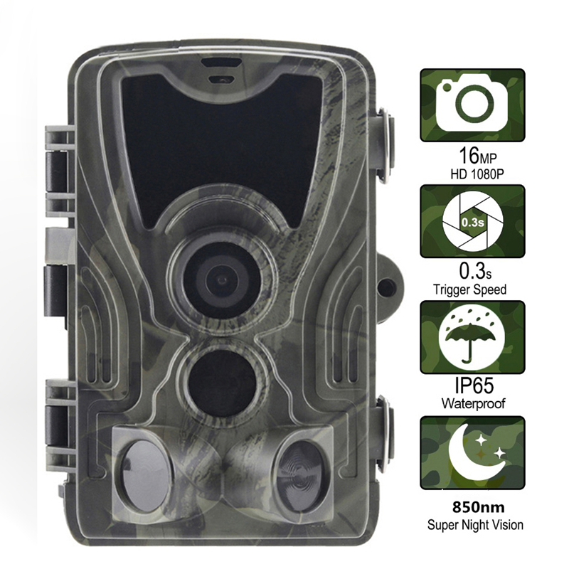 Goujxcy HC 801A Hunting Camera 1080P infrared leds Night Vision Trail Camera forest Photo traps Scout