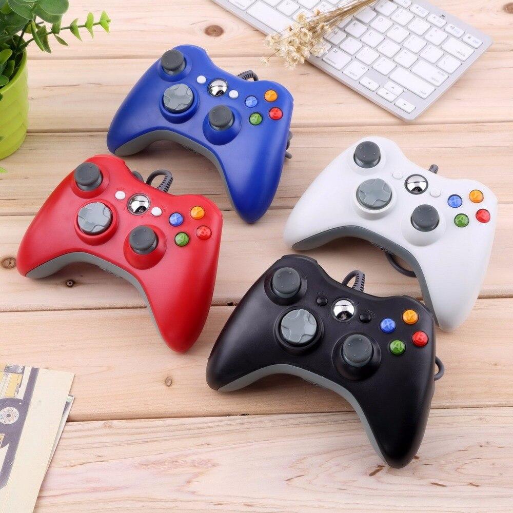 USB Wired Controlador Para Microsoft para Xbox Joypad Gamepad branco & Magro para 360 PC para o Windows 7 Quente Em Todo O Mundo