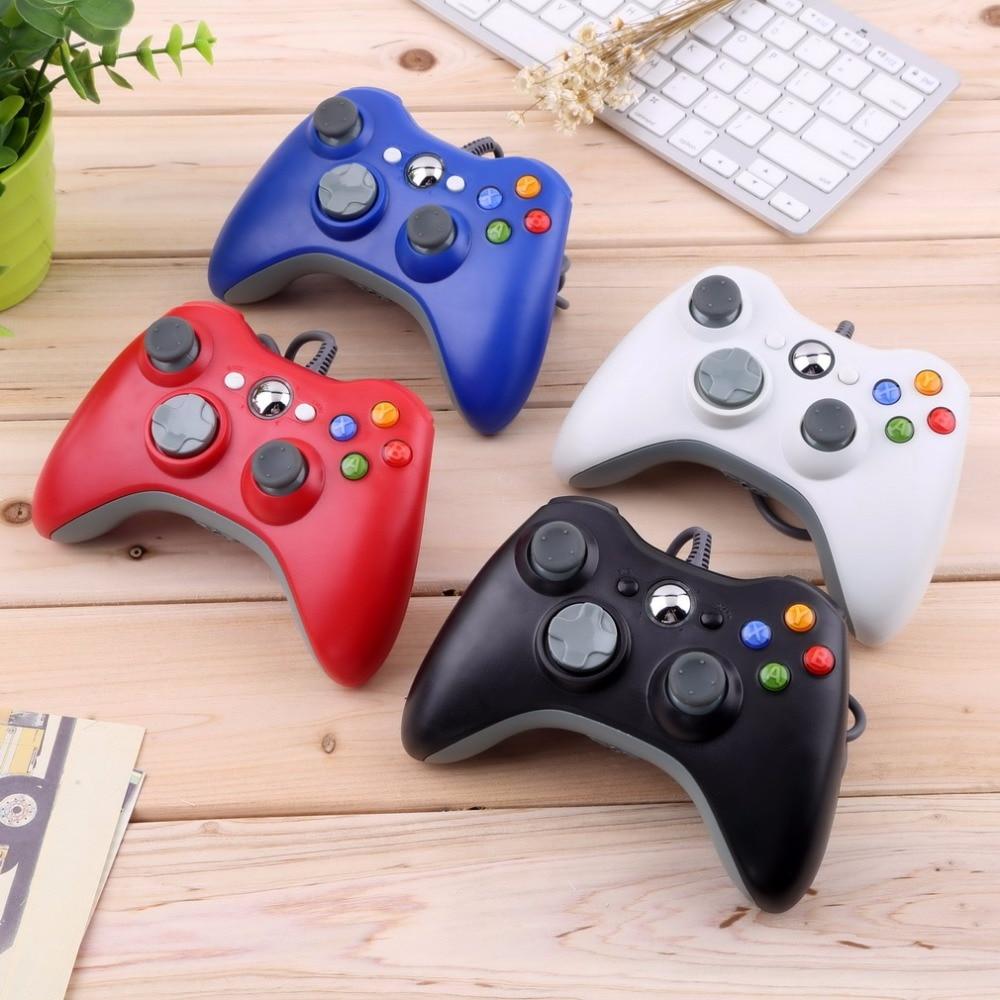 USB Wired Controlador Para Microsoft para Xbox Joypad Gamepad branco & Magro para 360 pc para Windows 7 Quente Em Todo O Mundo