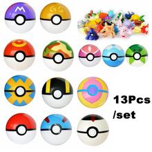 Anime 13Pcs/set Pocket Model Pokeball Monster Mini Pearl Squirtle Toy Figures For Kids Collection Pikachu Gifts