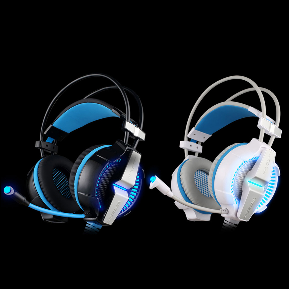 ФОТО Gaming Headphones EACH G7000 Vibration Function / Breathing LED Light Earphones Game Headset With Microphone Surround 7.1 Sound