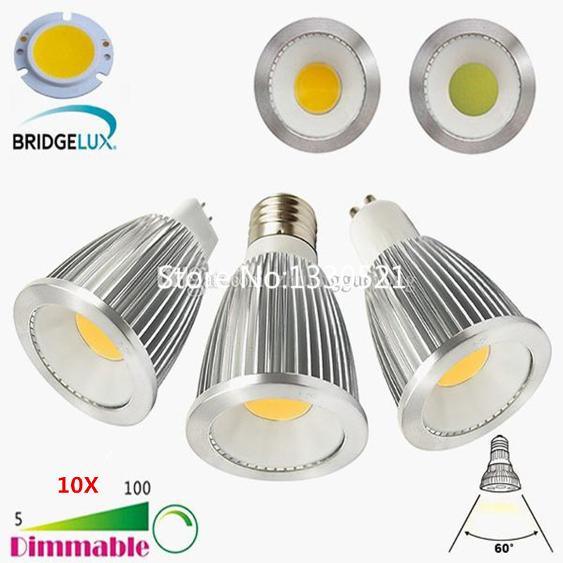 10pcs new 6w 9w 12w led cob spotlight dimmable mr16 gu5 3. Black Bedroom Furniture Sets. Home Design Ideas