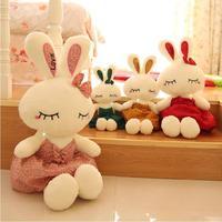1 Pcs Small 40 Cm Lovely Style Cartoon Bowtie Sleep Ballet Rabbit Plush Toys Stuffed Animals
