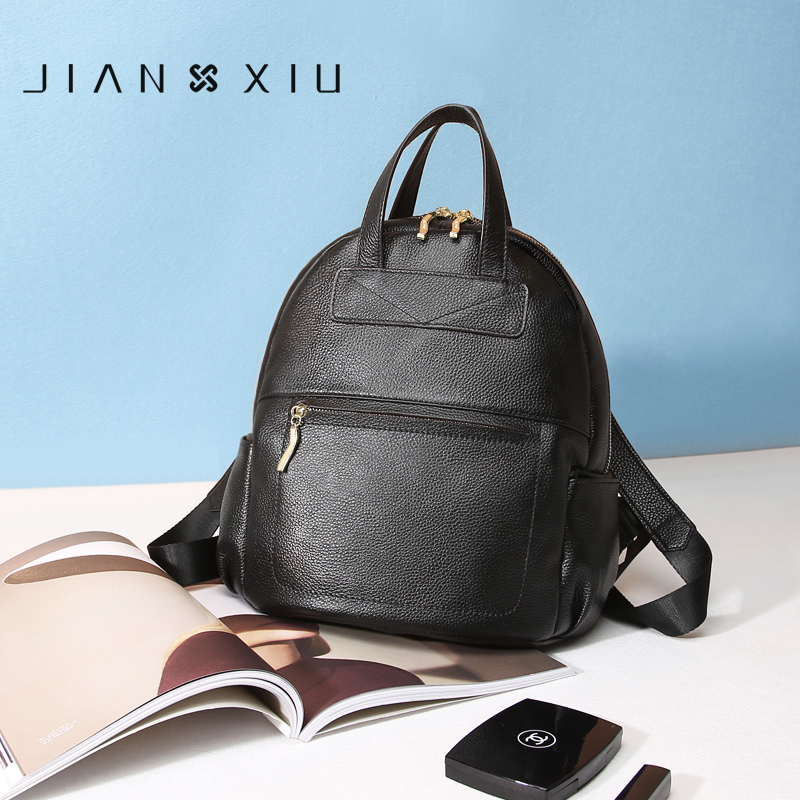 2018 BackPack Bag JIANXIU Genuine Leather Backpack School Bags Mochilas Bolsas Mochila Feminina Mujer Bagpack Escolar Backpacks jianxiu women pu leather backpack school bags mochilas bolsas mochila feminina mujer bagpack escolar backpacks new back pack bag