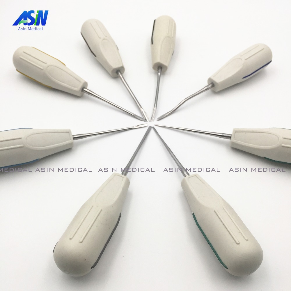 2016 8PCS/kit Dental tongue scraper Very minimally invasive tooth extraction tooth quite invasive dental instruments Asin dental root fragment minimally invasive tooth extraction forcep toothdental instrument curved maxillary and mandibular teeth
