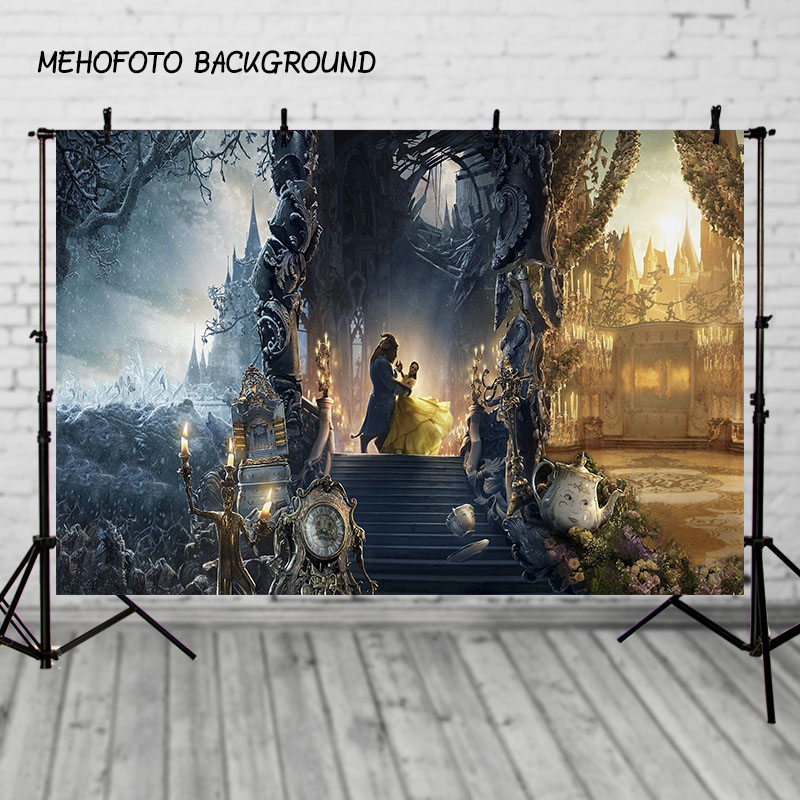 25 Unique Staircase Designs To Take Center Stage In Your Home: MEHOPHOTO Photography Backdrops Beauty Beast Hall Night