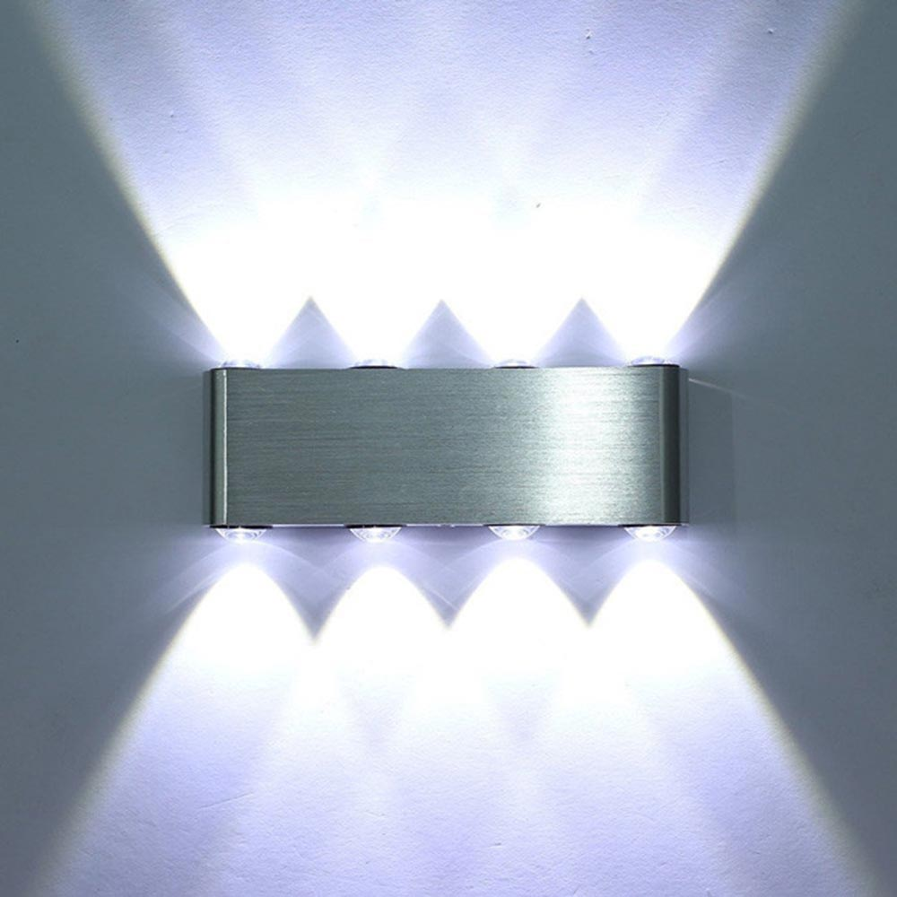 Led wall light aluminum lamp Sconce 8W 800lm AC85-265V in sotck wall sconce surfaced mounted light fixture indoor bathroom JQ