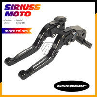 CNC Motorcycle Foldable Lever Motocross Brake Clutch Levers Case for Suzuki GSX650F GSX 650F 2008 2015