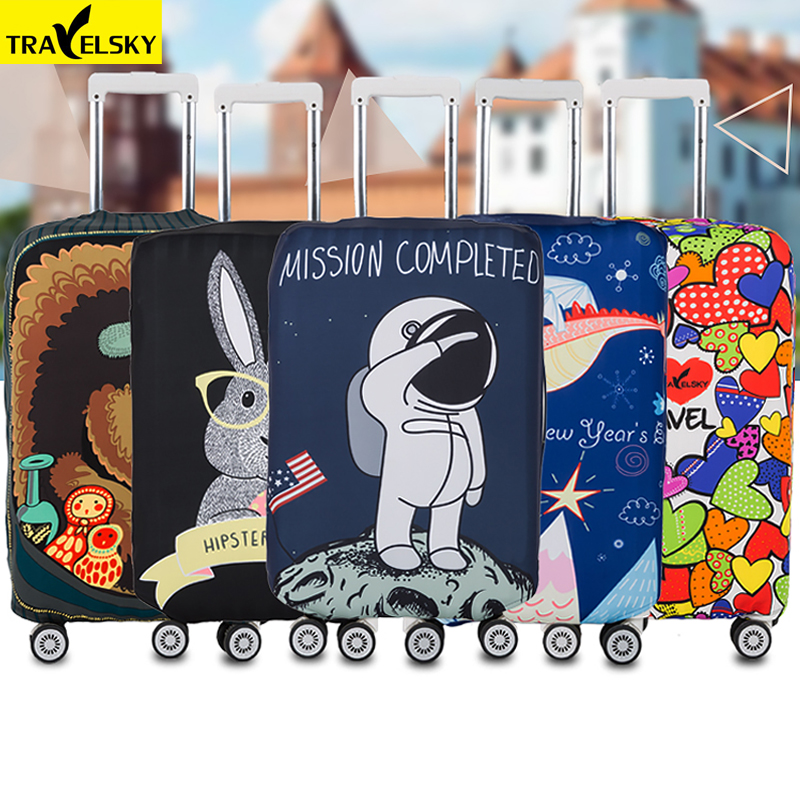 Brand Elastic travel luggage cover Animal Printing Protective Suitcase cover Trolley case thickening dust cover for 18-32inch