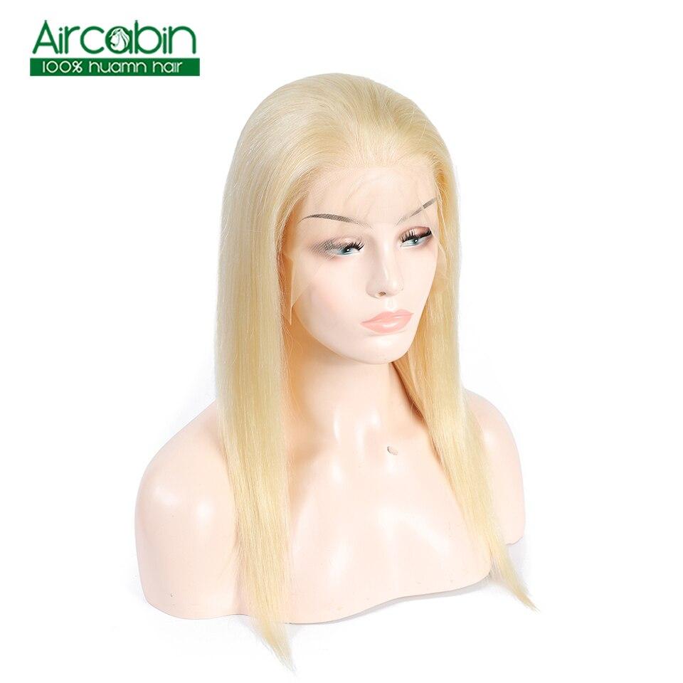 613 perruque brésilienne droite pleine dentelle perruques cheveux humains avec cheveux de bébé Remy cheveux perruque brésilienne pré plumée ligne de cheveux 120% densité aircabine