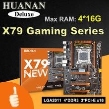 HUANAN Deluxe version X79 gaming motherboard X79 LGA 2011 motherboard ATX 4 kanäle unterstützung 16G speicherkarte max 64G unterstützung SLI