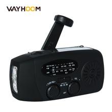 Рукоятка Радио AM/FM/NOAA Солнечной Радио Динамо 3 СВЕТОДИОДНЫЙ Фонарик Чрезвычайных Телефон Зарядное Устройство