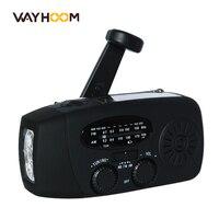 Manivelle Radio AM/FM/NOAA Solaire Radio Dynamo 3 LED lampe de Poche D'urgence Chargeur de Téléphone