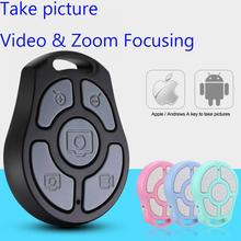 5 Key Selfie Shutter Bluetooth Remote Control Self timer fast camera/flexible zoom/adjusted lens/video For iPhone Android