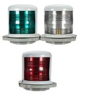 bulb 12v 12V/24V Marine Boat Bulb Light 25W Navigation Sailing Signal Lamp Port Starboard Light Masthead Light Red/Green/White (1)