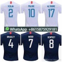 Thai quality 2018 2019 USA PULISIC Soccer Jersey 18 19 DEMPSEY BRADLEY  ALTIDORE WOOD America Football d19dacf51