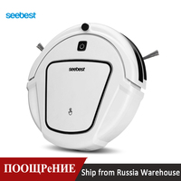 Seebest D720 MOMO 1.0 Dry Mopping Robotic Vacuum Cleaner with 2 side brush,Time Schedule Clean Robot for Hard Floor