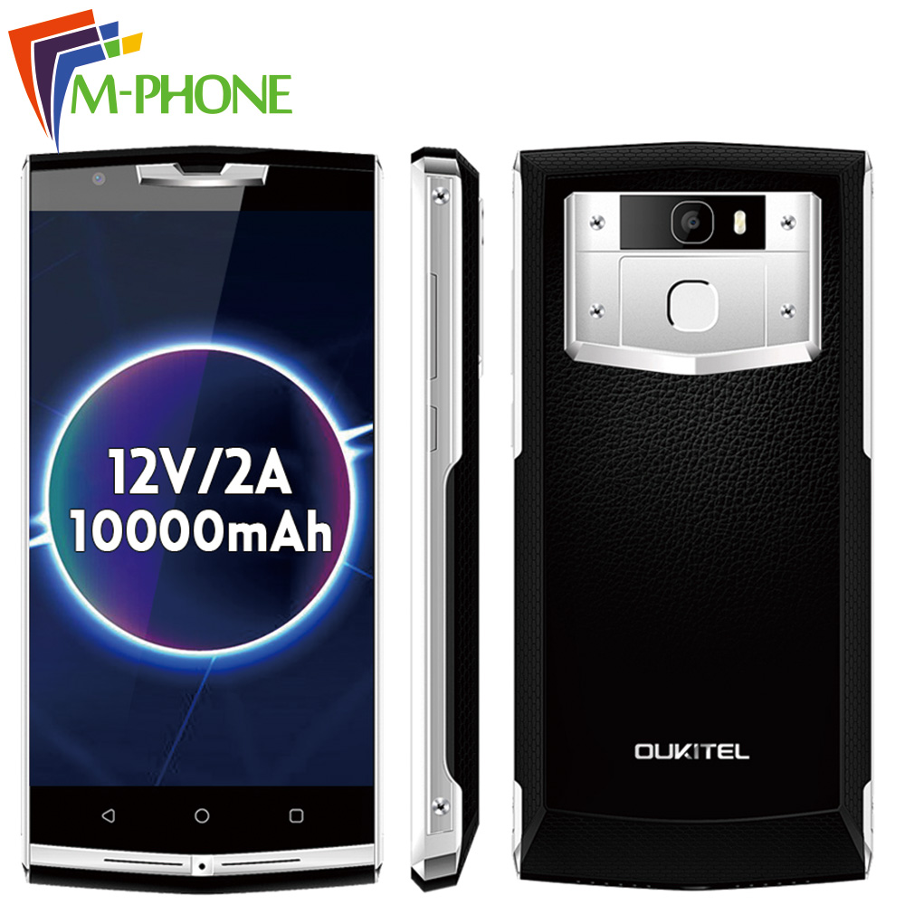 Original Oukitel k10000 Pro Mobile Phone 5 5 inch 10000mAh 4G Android 7 0 MTK6750T Quad