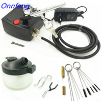 Hot Dual Action Airbrush Air Compressor Kit Spray Gun For Art Painting Tattoo Manicure Craft Cake Spray Model Air Brush Nail
