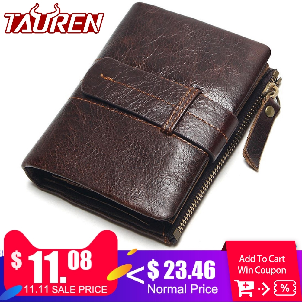 2018 Vintage Casual 100% Real Genuine Leather Oil Cowhide Men Mini Wallets Holder Coin Purse Pockets Small Men Wallet Coin Purse aoeo genuine leather men wallets short coin purse small vintage wallet cowhide leather card holder pocket purse men wallets mini