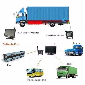 """Image 5 - Podofo kablosuz 4 yedekleme kameraları IR gece görüş su geçirmez ile 7 """"dikiz monitör RV kamyon otobüs park yardım sistemi"""