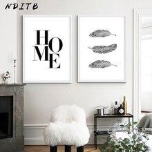 NDITB Черно-Белая настенная Картина на холсте, домашний постер в скандинавском стиле, минималистическая печать, Картина Настенная для декора ...