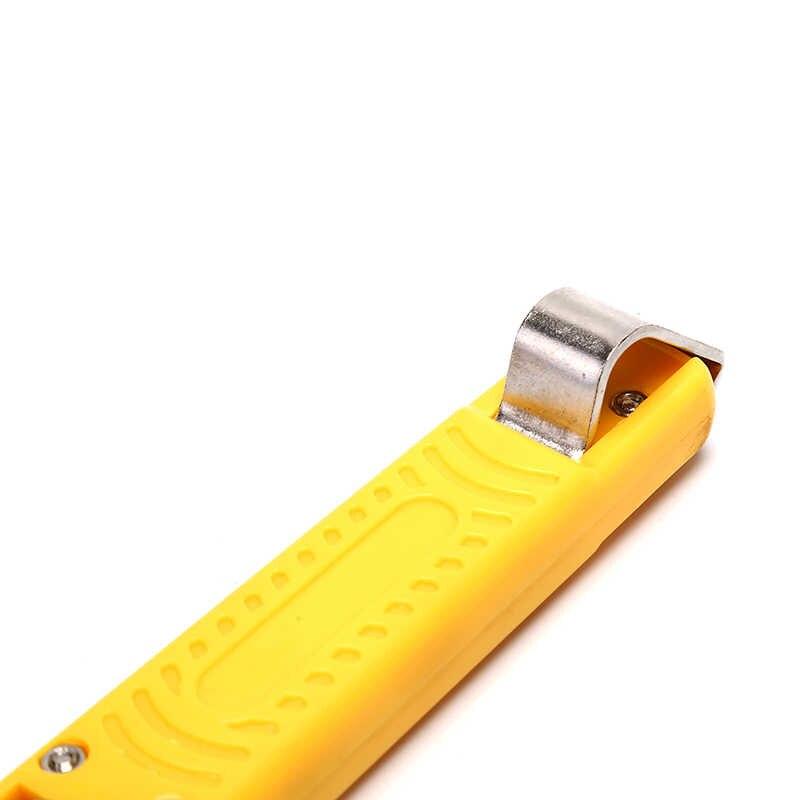 Mini szczypce do zdejmowania izolacji nóż regulowany elektryk do zdejmowania izolacji nóż ABS kabel uchwyt z tworzywa sztucznego w wieku 4-17mm