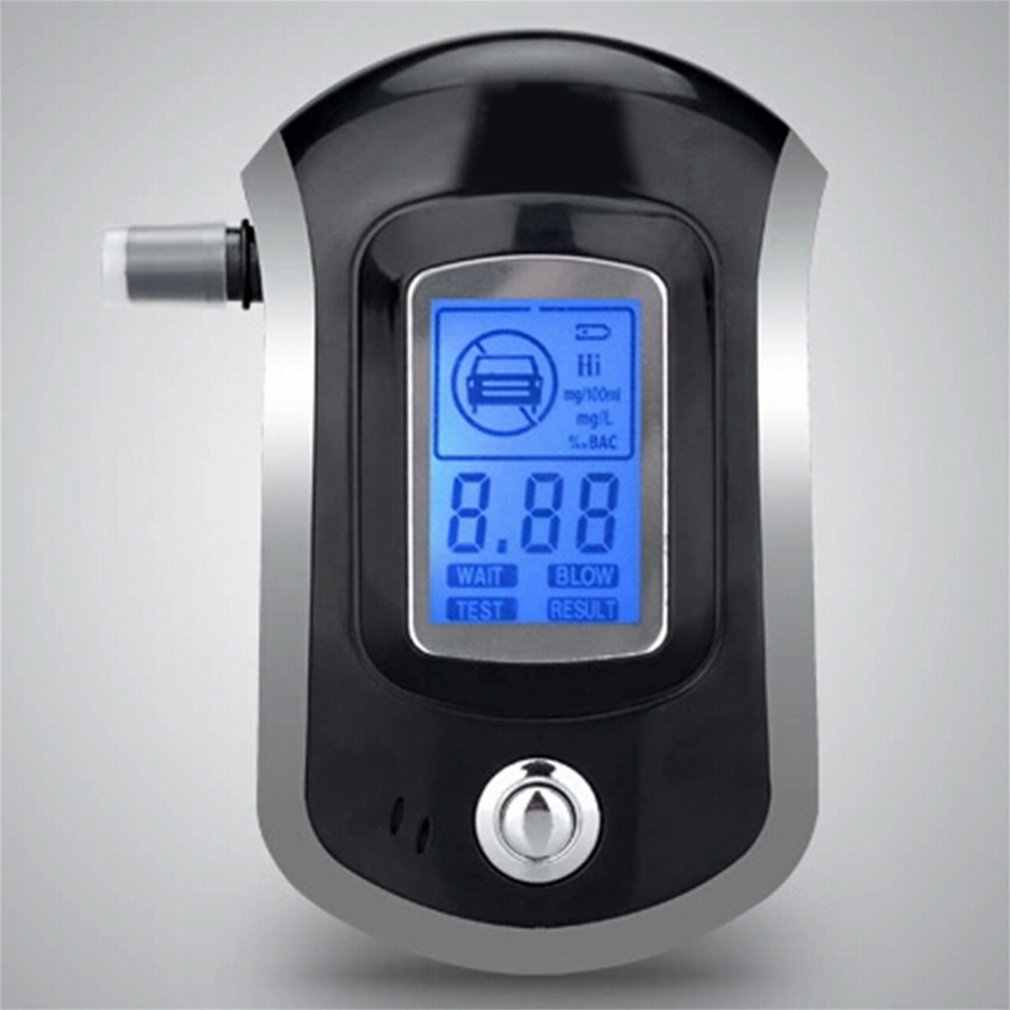 Hot Professional Digital Breath Alcohol Tester Bafômetro com LCD Dispaly com Boquilhas 5 AT6000 Transporte Da Gota de Venda Quente