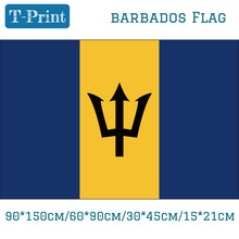 Free shipping Barbados National Flag 3x5ft Flags With Brass Metal Holes 30*45cm Car Flag 90*150cm 60*90cm 15*21cm цена