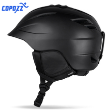 COPOZZ Ski helmet Safety Sport Skiing Helmet Integrally-molded Breathable Ski Snowboard men women Skateboard helmet Size 55-61cm цена в Москве и Питере