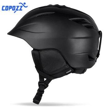 COPOZZ лыжный шлем, безопасный спортивный лыжный шлем, интегрированный дышащий Лыжный сноуборд для мужчин и женщин, скейтборд, шлем, размер 55-61 см