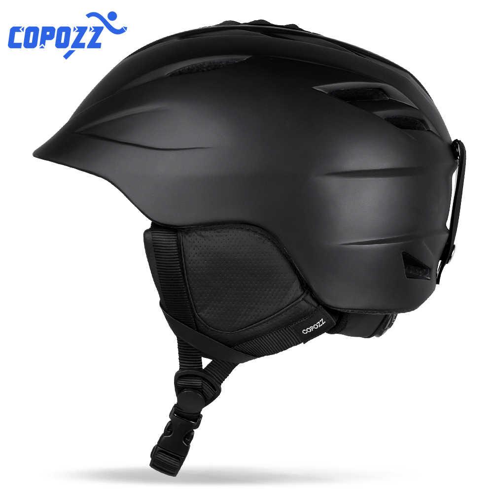 COPOZZ защитный лыжный шлем, цельно Отлитый дышащий шлем для катания на лыжах и сноуборде, для мужчин и женщин, скейтборд, размер 55-61 см