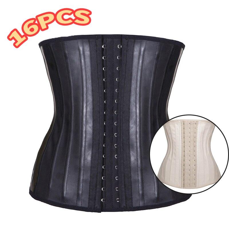 16PCS 25 Steel Boned Waist Cincher LATEX CORSET-in Waist Cinchers from Underwear & Sleepwears