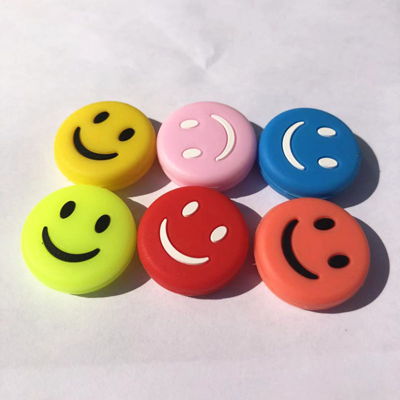 5pcs Assorted Colors Smiles Tennis Vibration Dampener Tennis Racquets Shock Absorbers