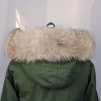 Real Wolf Fur Collar For Men And Women Winter Warm Coat Hooded Collar Natural Scarf Factory