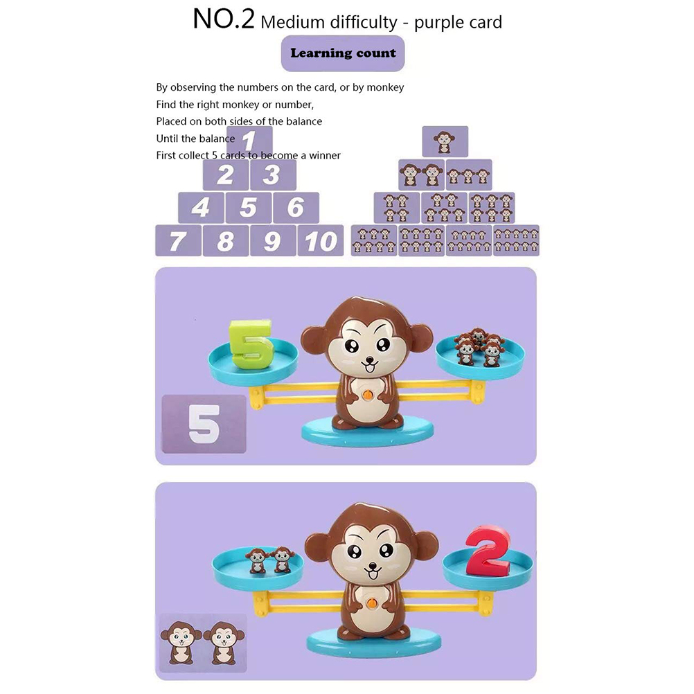 Image 5 - Monkey Digital Balance Scale Toy Early Learning Balance Children Enlightenment Digital Addition and Subtraction Math Scales Toys-in Math Toys from Toys & Hobbies