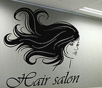 Hair Salon Vinyl Wall Decal Sexy Girl barber shop styling hair Reception hall Lettering Wall Sticker Hair SalonDecoration
