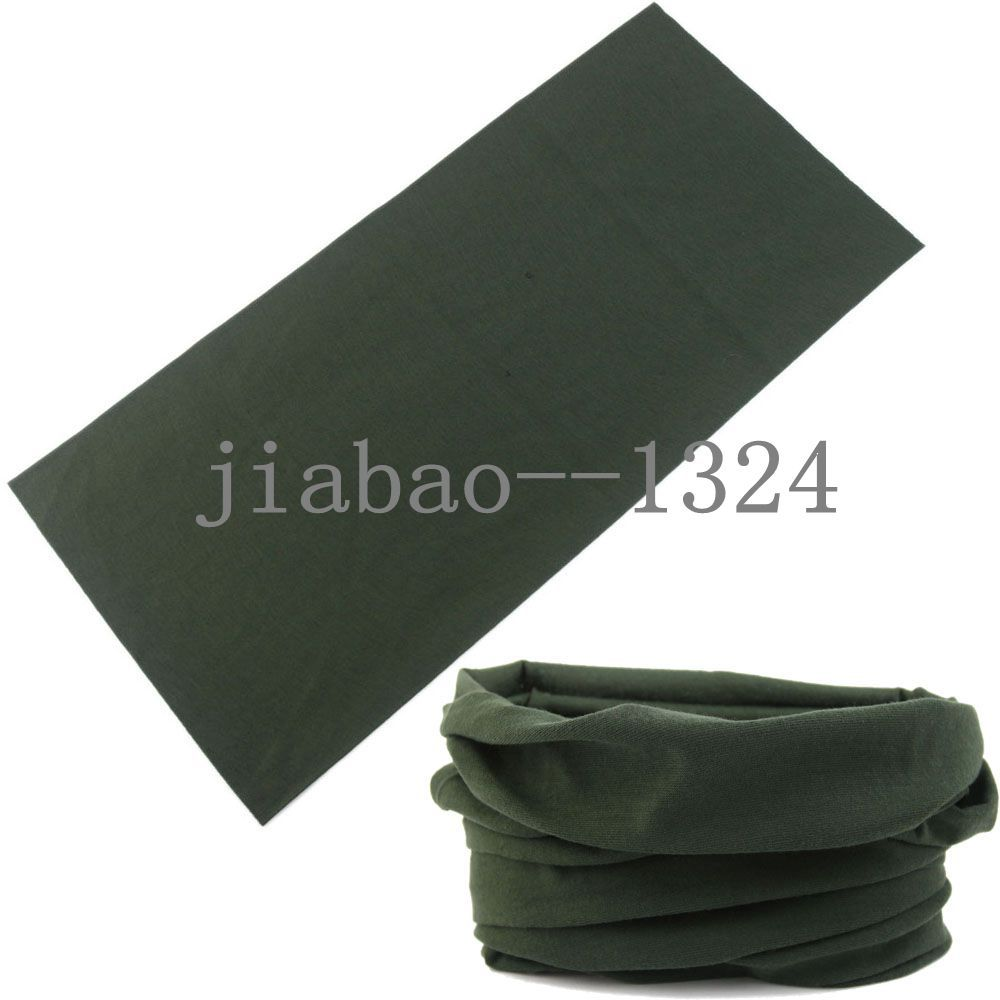 2018 Multi Use Microfiber Neck Warmer Snood Headband Green Scarf Face Mesh Solid Bandana man Doo Rag Bandana Men Head Scarf ...
