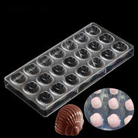 Whelks Snails Conch Shaped Hard Candy Molds Jelly Mould Plastic Baking Tray Polycarbonate Chocolate Mold Pc Mould