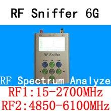 RF Sniffer 6G Handheld Digital Spectrum Analyze(15-2700MHz&4850-6100MHz) VHF/UHF/WiFi/2.4G/5.8G/Bluetooth/LTE/GSM/GPRS/HAM Tools