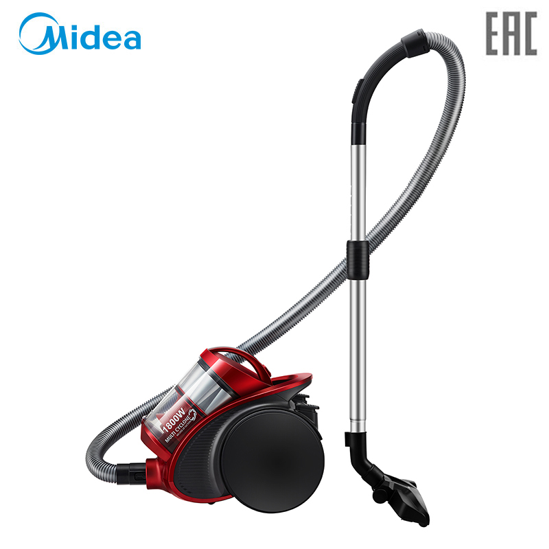 Vacuum Cleaner Midea VCM38M1 bagless canister with 1800W power and large suction power midea midea vcm38m1