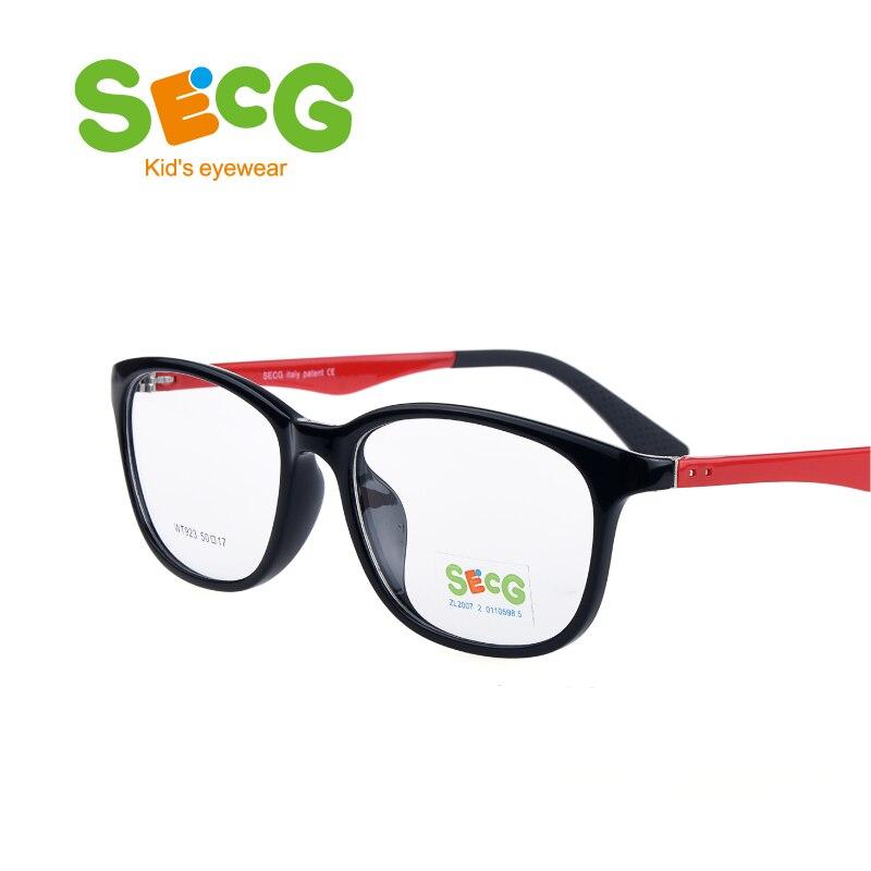 SECG Kid Frame Unisex Child Customized Flexible Safe Optic Frame Super-Tough Myopia Polarized Lenses Hyperopia Prescription