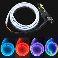 120cm RGB LED Strip Light Trunk Tail Light Car Styling Turn Signal Warning Flexible LED Strip
