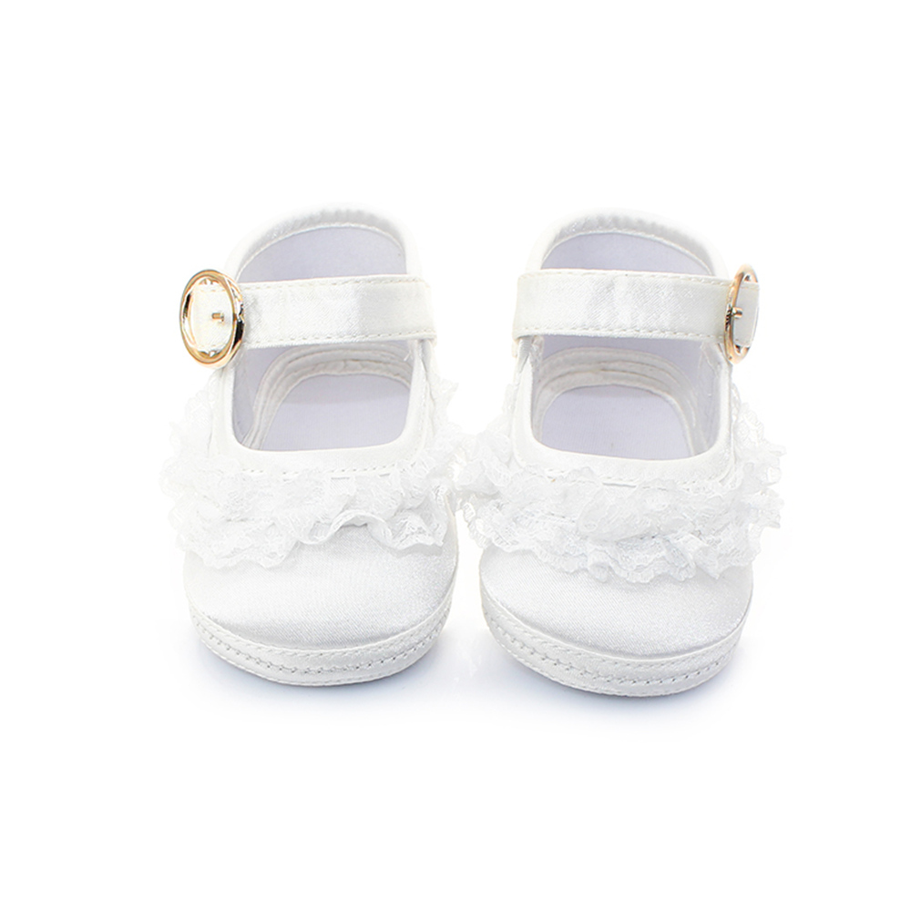 8 Different Style Fashion Baptism Pure White Shoes For 0-2 Years Old Riband Solid Baby Girls Shoes Handmade High Quality 2018
