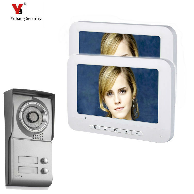 Yobang Security 7inch Color Wired Video Intercom Door Phone Doorbell System for home 700TVL IR Night Vision Outdoor Camera gb local dispatch intercom system wired 7 color video door phone intercom system hd camera night vision doorbell home security