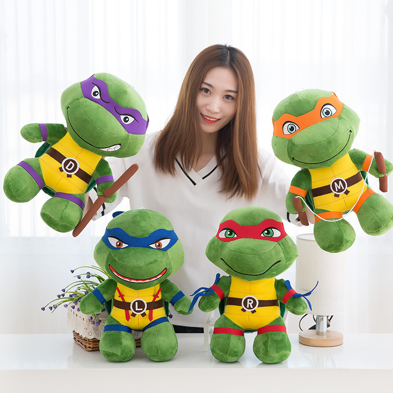 Stuffed Plush Animals Toy Movie Game Cute Turtle Cartoon Girl Plush Doll Pillow for Baby & Kids Sleeping Toys for Child Baby