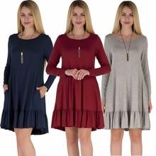 New women's clothing autumn and winter clothing women's fashion long-sleeved dress  dress for women sexy women