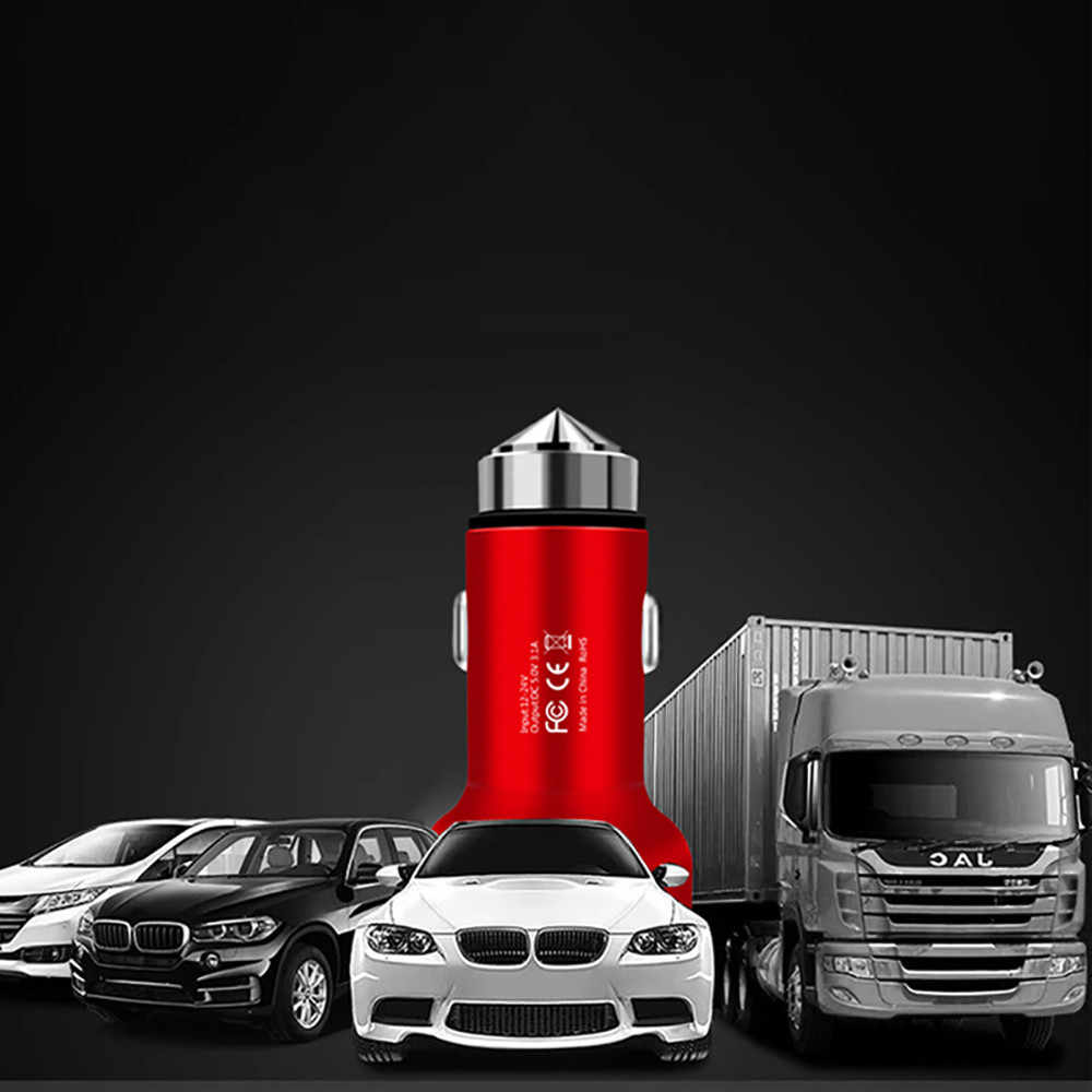 3.1A Dual USB Car Charger 2 Port LCD Display 12-24V Cigarette Socket Lighter Car charger for phone dropship a1