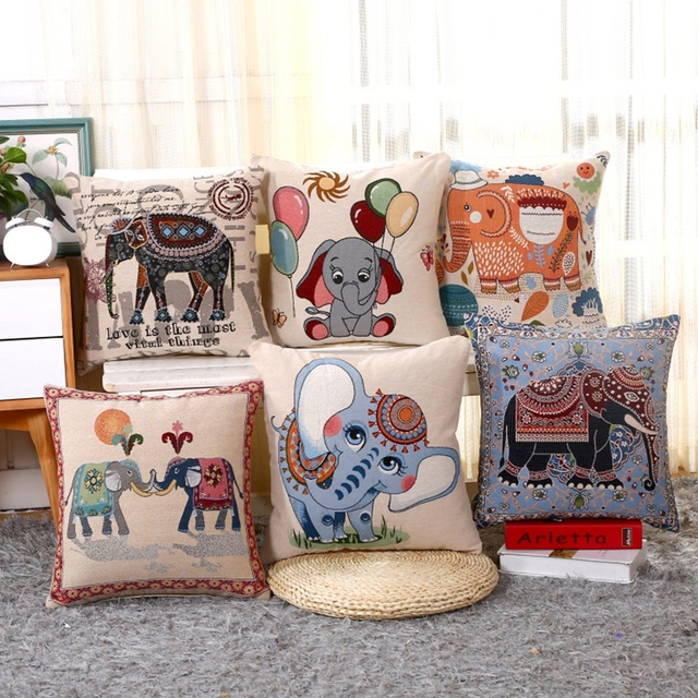 Aliexpresscom Buy Embroidered Square Pillow Covers Cute Cartoon