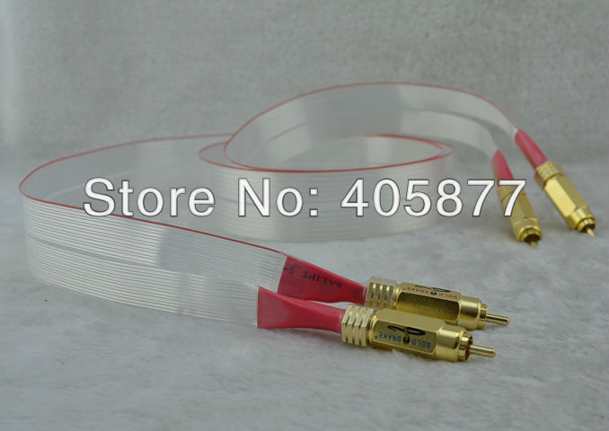 Pair viborg audio Red Dawn RCA interconnect cable with gold plated RCA plug cable 1M dali 17 1 1а